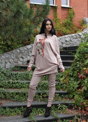 Костюм брюки, кофта Осень Дизайнерская одежа