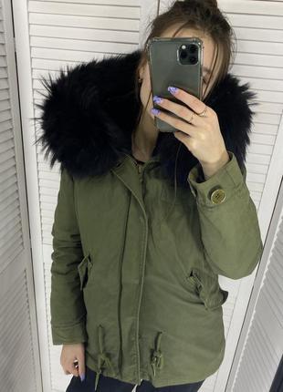 Парка зимняя куртка с мехом оригинал шуба mr&mrsfurs mr&mrs но...