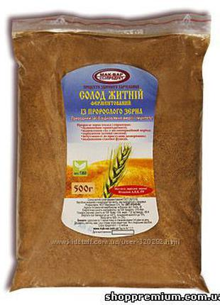 Солод ржаной из проростков  зерна 500 грамм