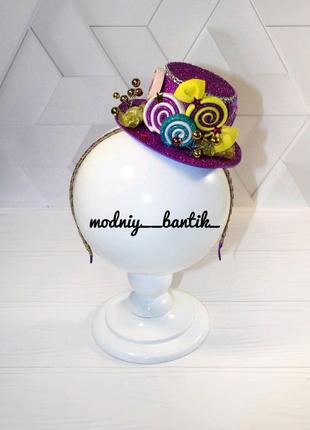 Обруч ободок шляпка конфета конфетка с конфетой новогодний