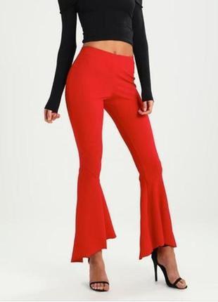Новые женские штаны # коралловые брюки с рюшами # river island