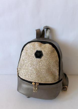 Рюкзак, ранец, эко кожа, маленький рюкзак, женский рюкзак