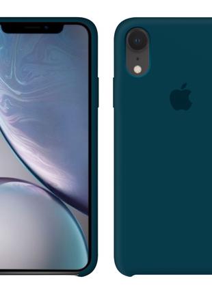 Силиконовый чехол Apple Silicone Case Cosmos Blue для iPhone Xr