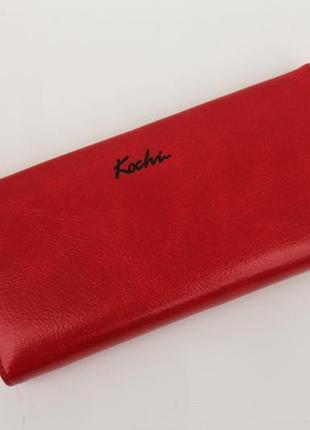 Кошелек, женский кошелек, портмоне, эко кожа, красный кошелек