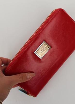 Кошелек, женский кошелек, портмоне, эко кожа, красный кошелек,...