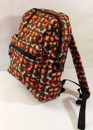 Рюкзак, ранец, городской рюкзак, стильный рюкзак, птицы