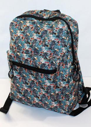 Рюкзак, ранец, городской рюкзак, стильный рюкзак, еноты