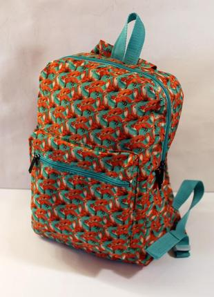 Рюкзак, ранец, городской рюкзак, стильный рюкзак, лисички