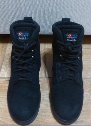 Ботинки зимние женские черные rohde sympatex черевики зимові ж...