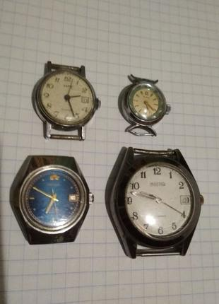 Часы СССР. Рабочие Заря 22 камня, Slava 17