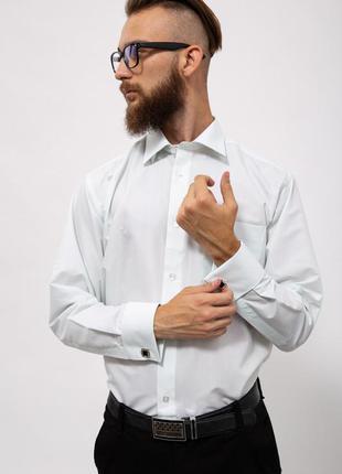 Рубашка мужская нарядная  цвет мятный