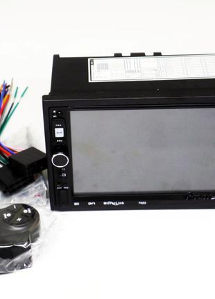 2 din  Pioneer 7022 магнитола USB+BT+SD пульт на руль, короткая