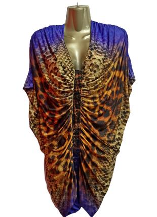🔥платье на новый год 🎄❗️ платье-бабочка леопард со стразами, н...