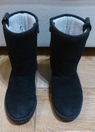 Угги замшевые женские adidas сапоги адидас валенки ботинки чер...