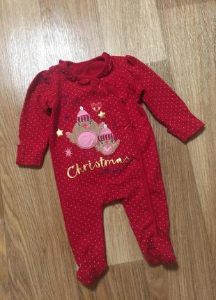 Новогодний человечек для новорожденного малыша унисекс