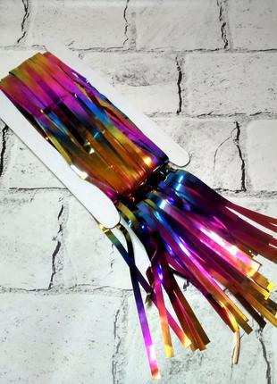 Гирлянда шторка для декора фотозоны, градиент цветная 1х2 метра