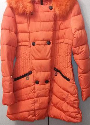 Куртка женская зимняя 46-50 размер идеальное состояние за полцены