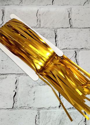 Гирлянда шторка для декора фотозоны, золото сатин 1х2 метра