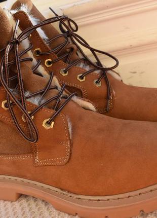 Кожаные зимние ботинки полусапоги р.42 27 см