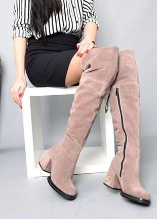 ❤ женские замшевые зимние сапоги ботфорты ❤