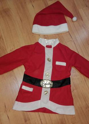 Карнавальный новогодний костюм санта клаус 🎅 дед мороз/ гном