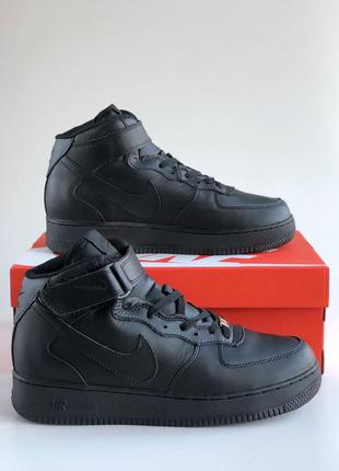 Кроссовки nike air force mid winter black