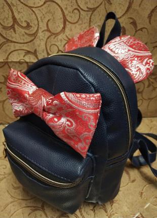 Рюкзак, ранец, маленький рюкзак, ушки, бантик, стильный ранец