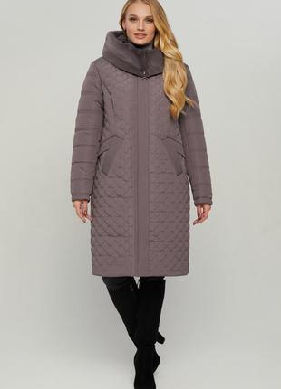 Зимняя длинная куртка пуховик