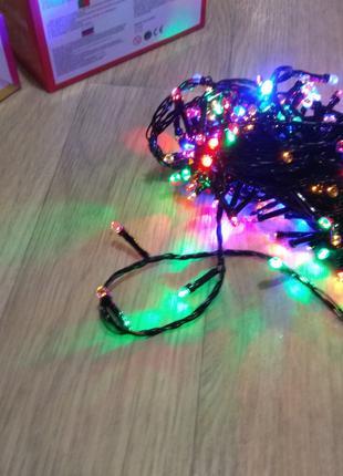 Гирлянда новогодняя светодиодная 15м