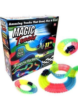 Волшебная трасса конструктор Magic Tracks светящийся гибкий трек