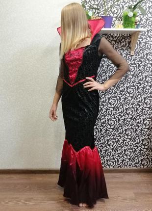 Карнавальный костюм хэллоуин злая королева вампирша летучая мышь