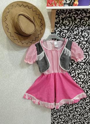Карнавальный костюм ковбой шериф на девочку