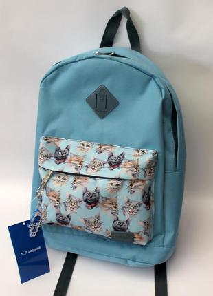 Рюкзак, ранец, городской рюкзак, спортивный рюкзак, коты, женс...
