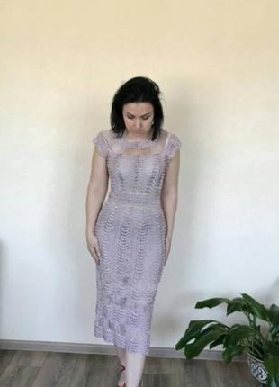 Вязаное платье из шелковой пряжи