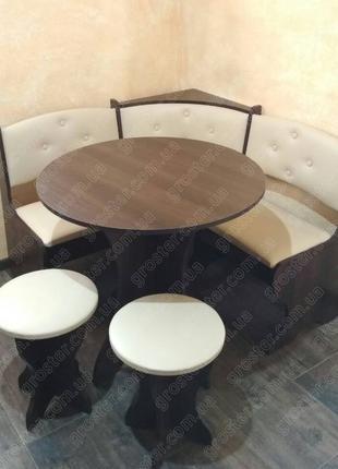 Кухонный уголок Боярин со столом и табуретами
