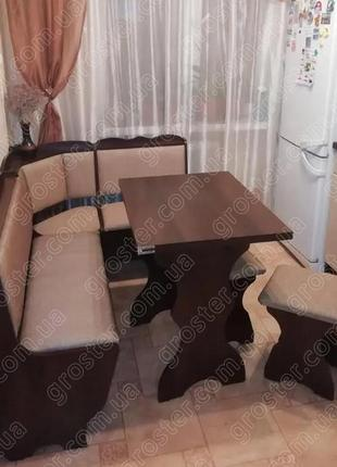 Кухонный уголок Лорд с раскладным столом и табуретами