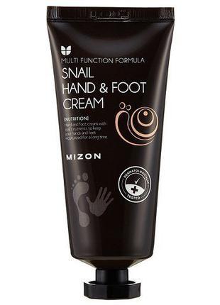 Крем для рук и ног с муцином улитки Mizon Snail Hand And Foot