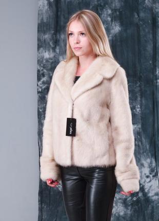 Норковая шуба полушубок италия норка saga furs новая коллекция