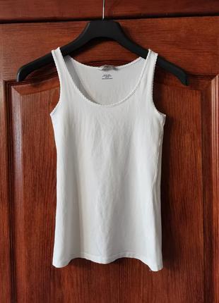 Белая нательная майка h&m pima cotton термо белье