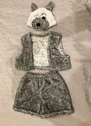 Классный Новогодний детский костюм волка 92 размер