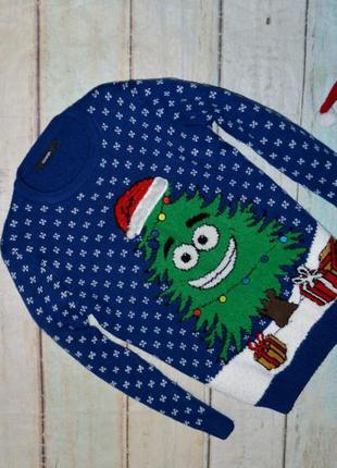 Новогодний свитер george на 8-9 лет