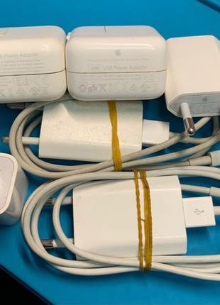 Зарядка, блок питания, кабель Apple iPhone оригинал б/у