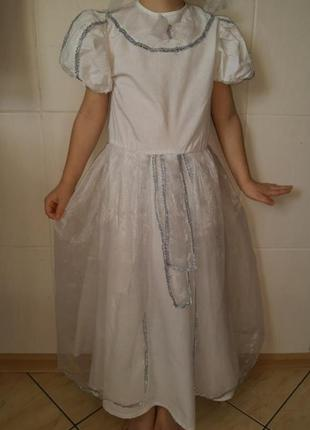 Карнавальный костюм детский платье принцессы,зима, снежная кор...