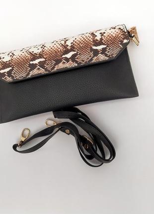 Сумка, клатч, женская сумка, эко кожа, кросс боди, сумка через...