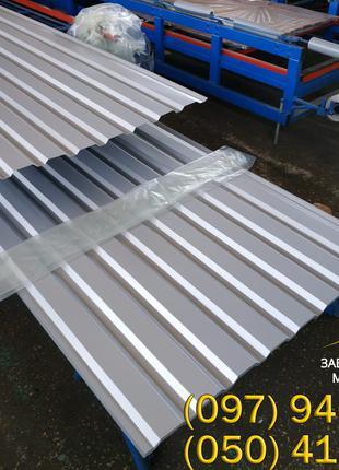 Серый профнастил ПС-20, купить профнастил серого цвета Ral 7004