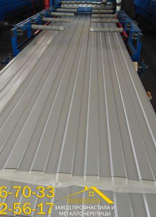 Стеновой профнастил ПС-8 серого цвета Ral 7004, купить профлист