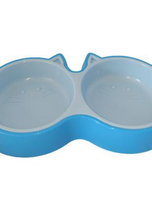Пластиковая миска Энимал для кошек (2 х 200 мл)