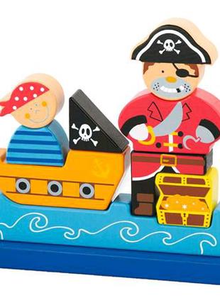 Магнитная деревянная игрушка Пират