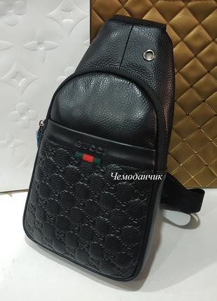 Мужская брендовая сумка слинг через плечо