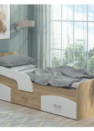 Детская и подростковая кровать Милка с ящиками